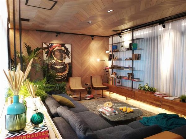ambientes com parede de madeira