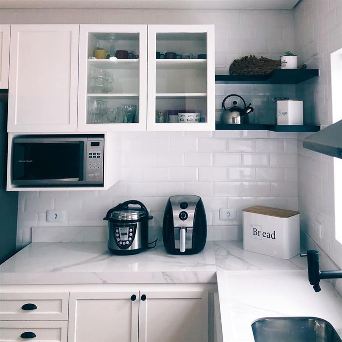 cozinha branca de canto
