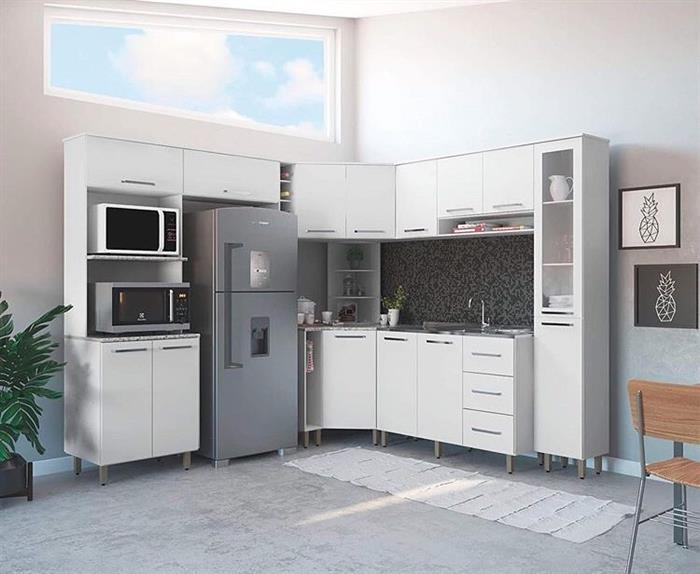 cozinha em l grande