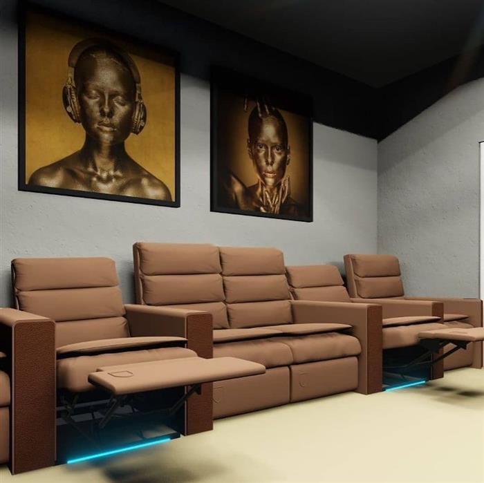 decoração sala de tv cinema