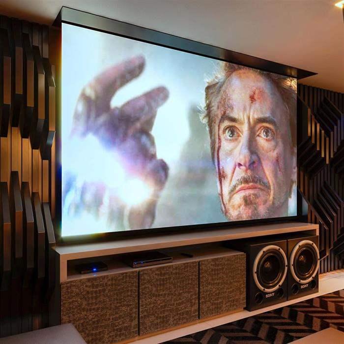 decorar uma sala de cine