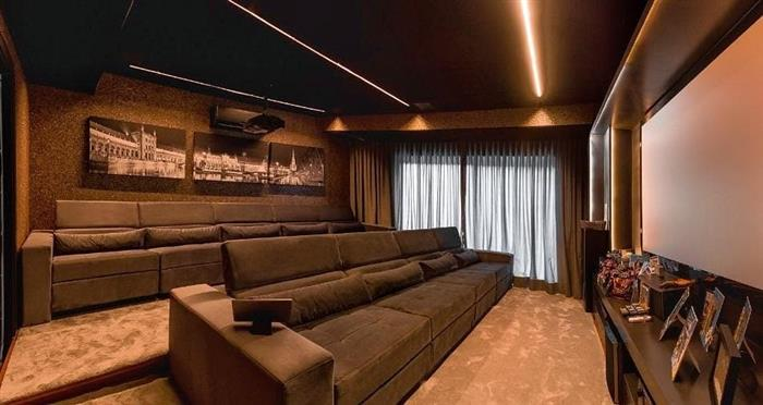 sala de cinema decoração