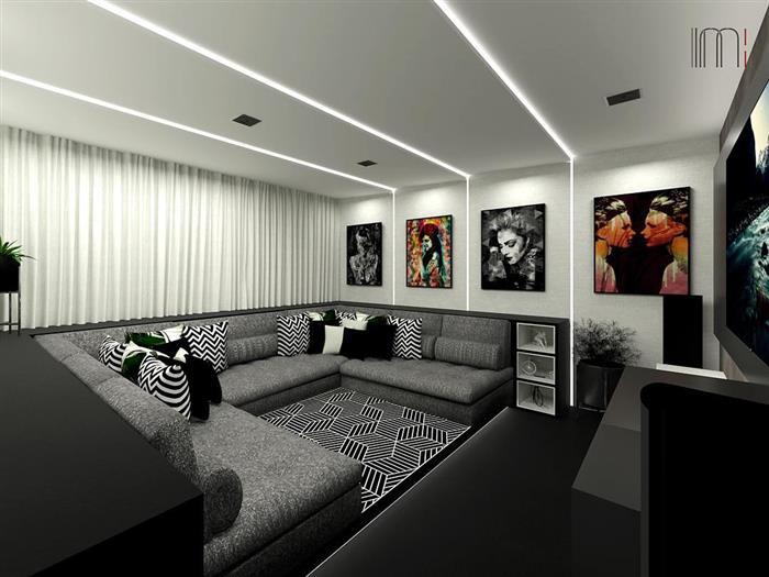 sala de cinema em casas