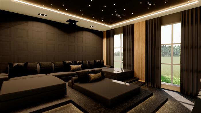 sala de cinema home theater