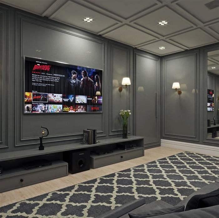 sala de cinema particular