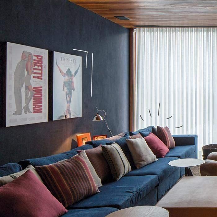 sofa para sala de cinema