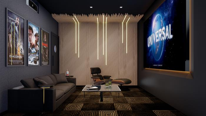 tv para sala de cinema