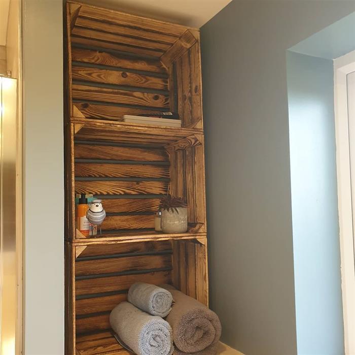 armario de banheiro rustico