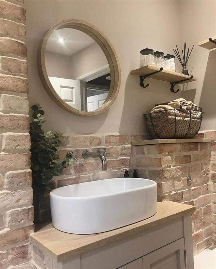 banheiro estilo rustico