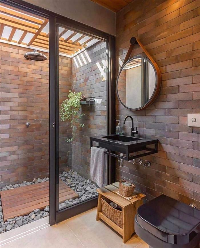 banheiro externo rustico