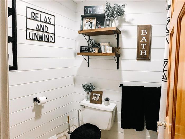 banheiro rustico decorado