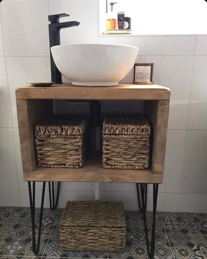 banheiro rustico gabinete