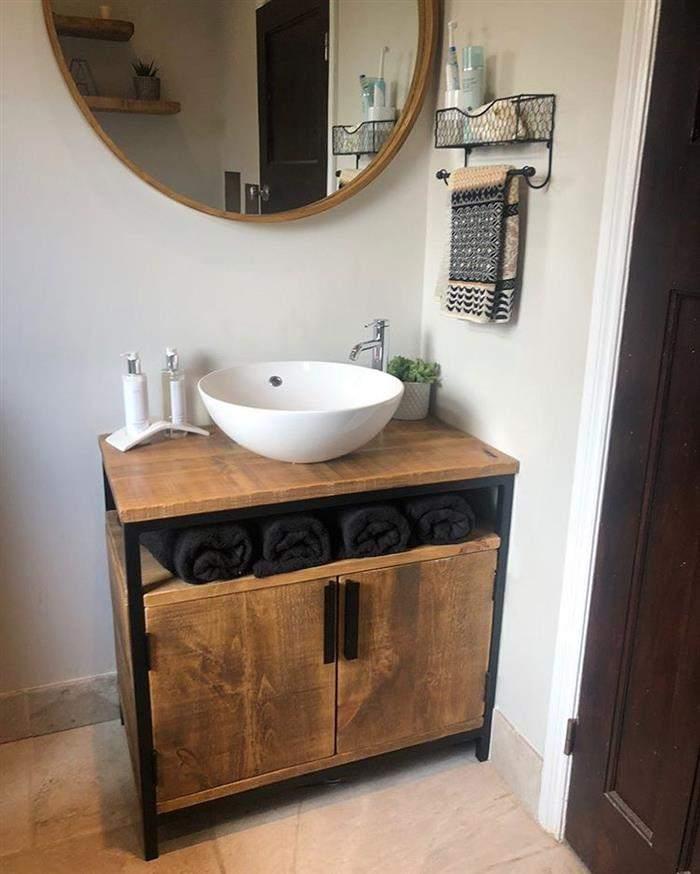 banheiro rústico moderno pequeno