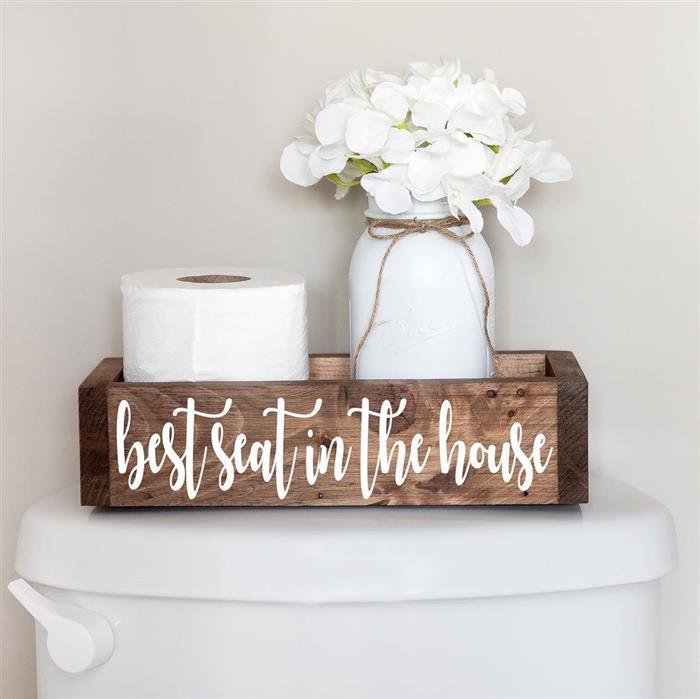 banheiro social rustico