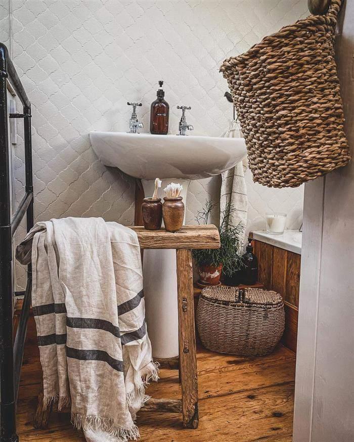 banheiros ambientes rusticos