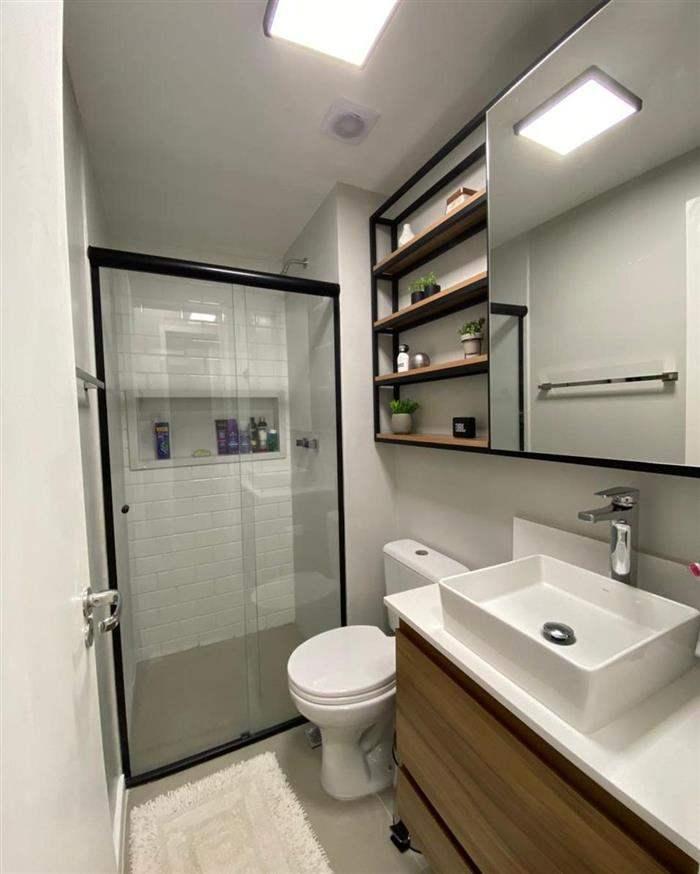 banheiro sem janelas