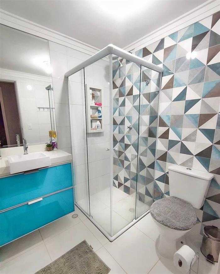 decoração em banheiro sem janela