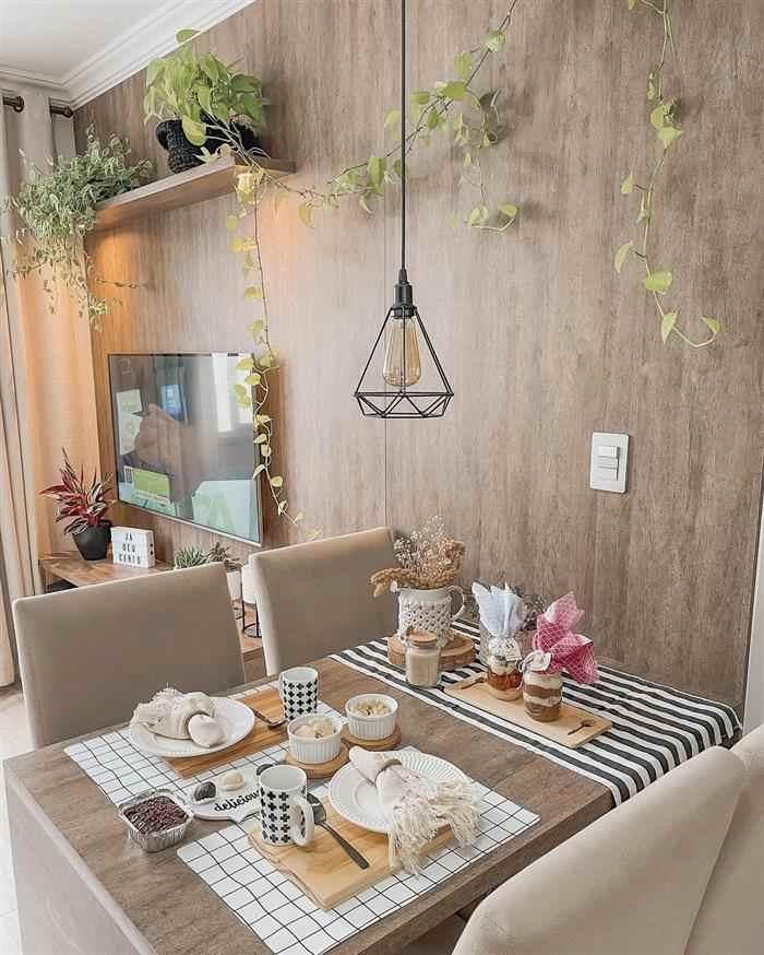 sala 2 ambientes de apartamento pequeno