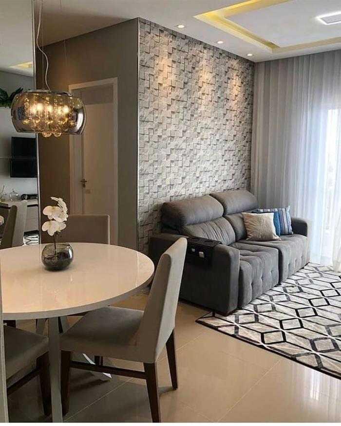 sala com dois ambientes simples