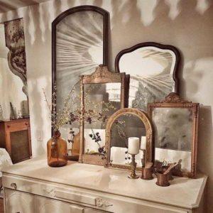decoração com espelho para quarto