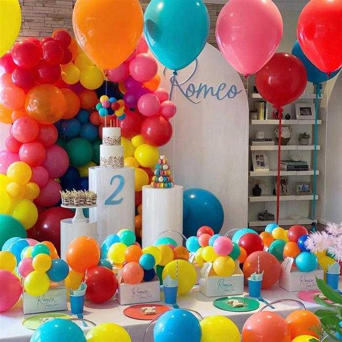 decoração com balões de aniversário
