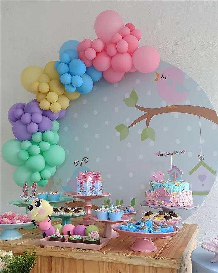 decoração com balões em festa infantil