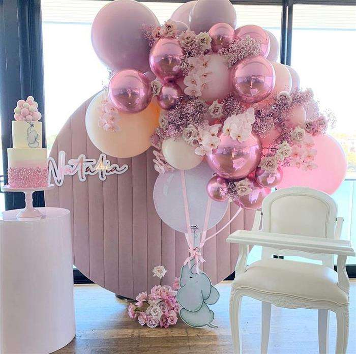 decoração com baloes rosa