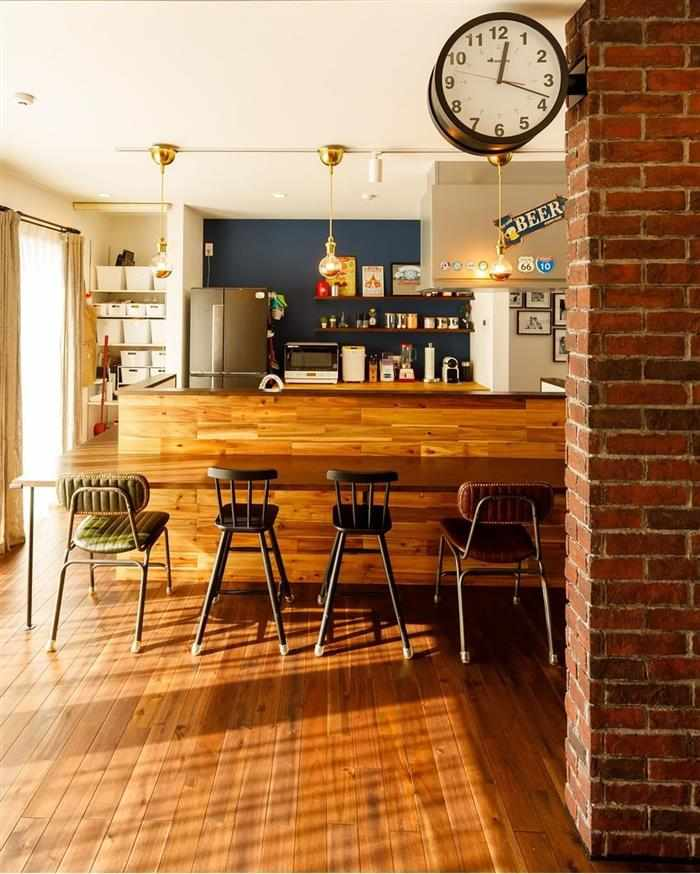 cozinha aberta com balcão