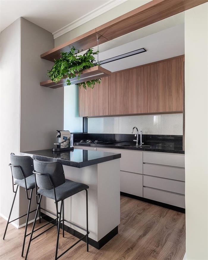 cozinha aberta com ilha