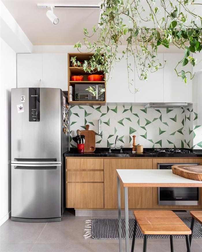 cozinha americana em espaço pequeno