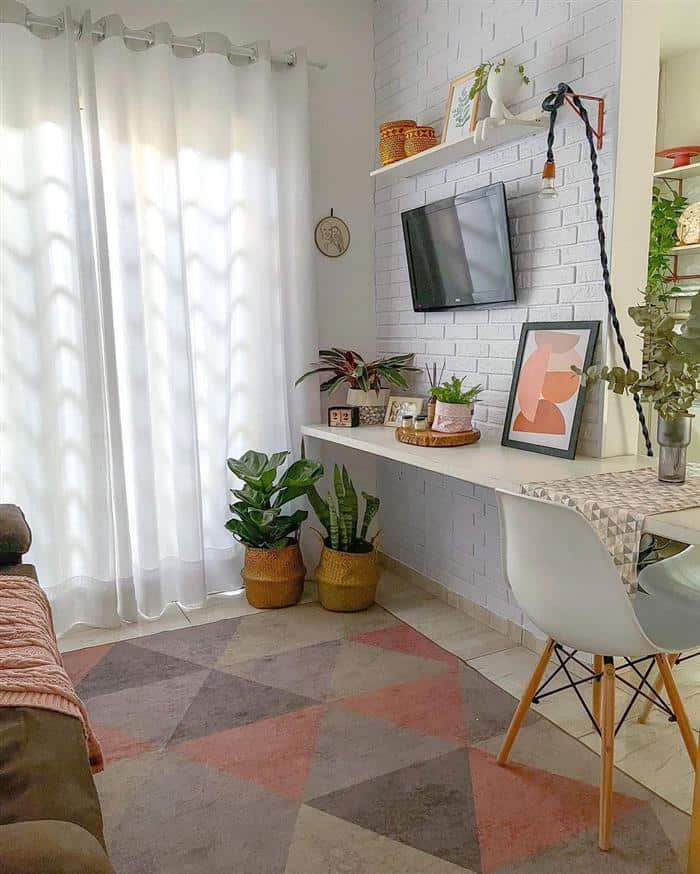 decoração de sala barata e criativa