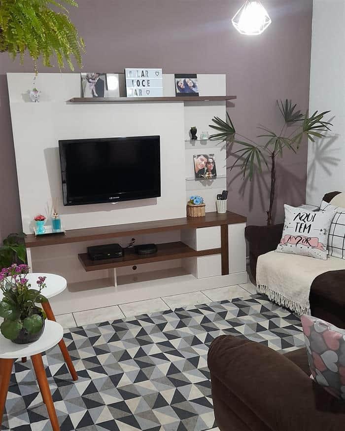 decoração de sala com a cor cinza