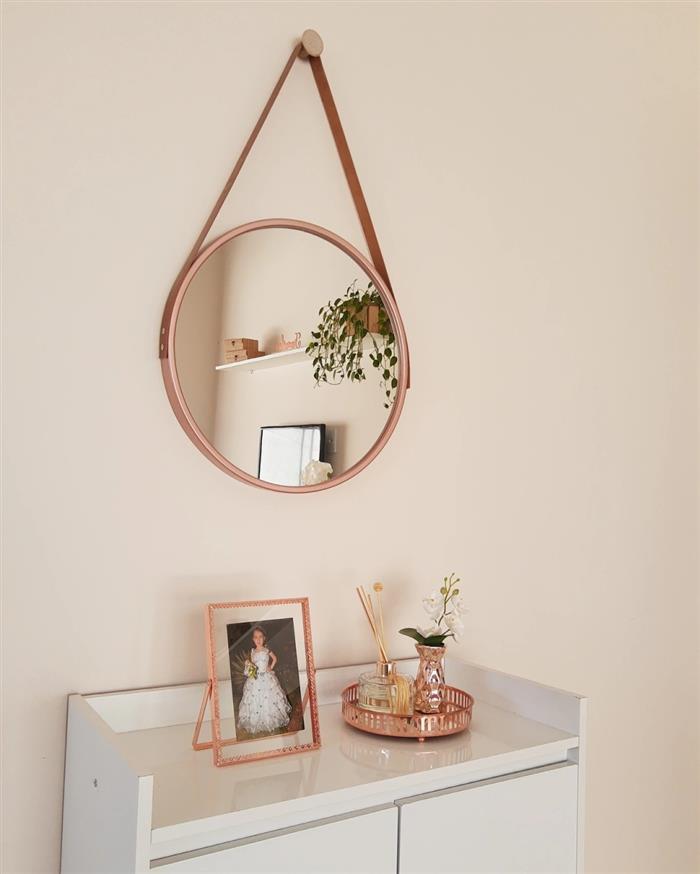 decoração de sala com espelho